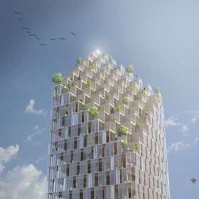 Shiver me timbers. Architects plan wood skyscraper for resident life