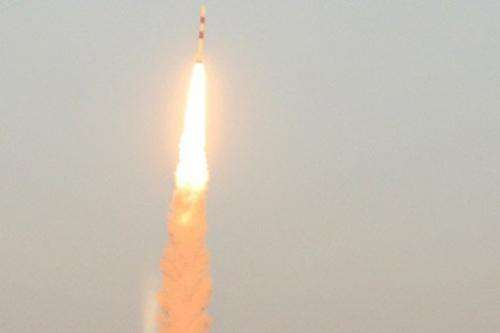 India's PSLV-C20 satellite launch vehicle lifts off from the launchpad at Sriharikora on February 25, 2013
