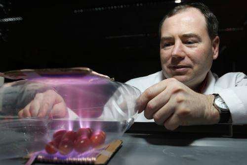 In-package plasma process quickly, effectively kills bacteria