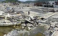 Japan tsunami exacerbated by landslide