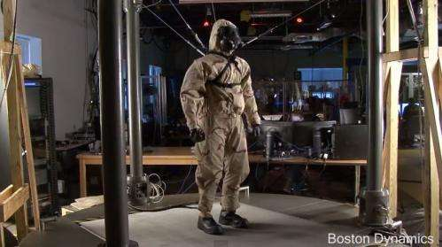 PETMAN stress-tests clothes for hazardous environments