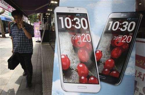 LG's profit falls on weak TV demand, handset costs