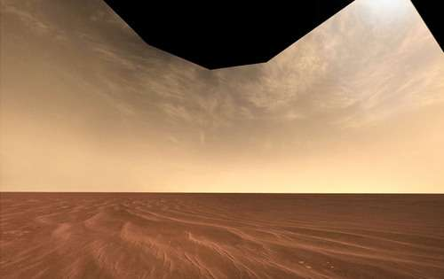 Making Martian clouds on Earth