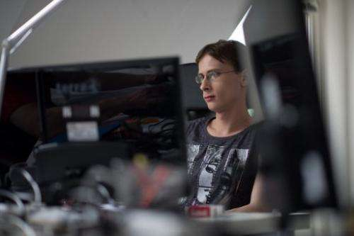 Melanie Altrock, 27-year autistic programmer, at her work station in Auticon in Berlin on May 30, 2013