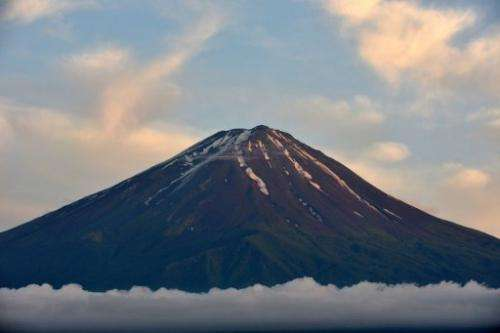 Mount Fuji is the highest mountain in Japan at 3,776 metres (12,460 feet) in Fujikawaguchiko