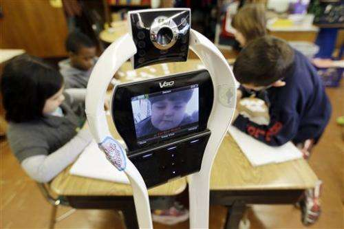 My classmate, the robot: US pupil attends remotely