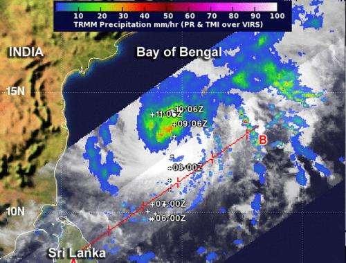 NASA eyes Tropical Cyclone Madi's rainfall