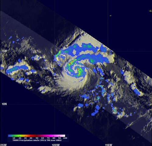 NASA finds powerful storms in quickly intensifying Tropical Storm Gil