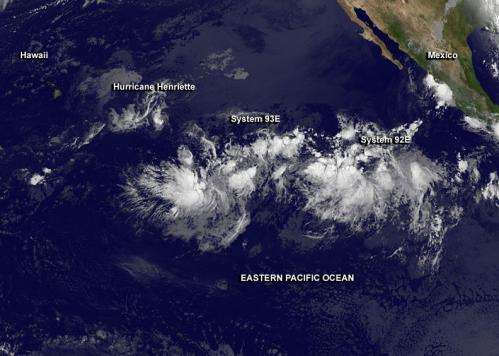 NASA paints a panorama of Pacific tropical cyclones