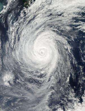 NASA's Aqua satellite sees Typhoon Francisco approaching Japan