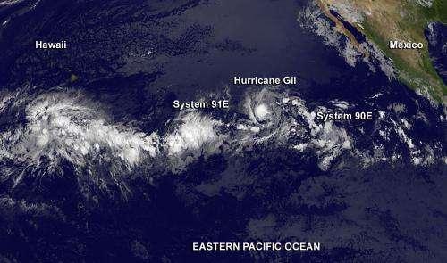 NASA sees a very active tropical Eastern Pacific Ocean