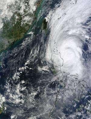 NASA sees Halloween Typhoon Krosa lashing Luzon, Philippines