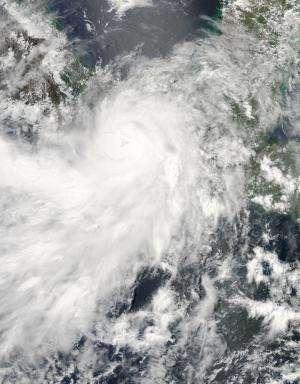NASA sees Hurricane Barbara quickly weaken to a depression