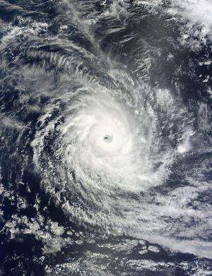 NASA sees powerful Tropical Cyclone Bruce staying away from land