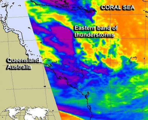NASA sees remnants of Tropical Storm Oswald still strong