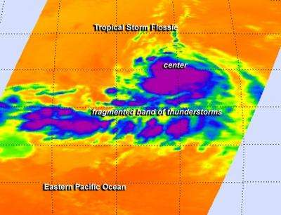 NASA's infrared data shows Tropical Storm Flossie's strength