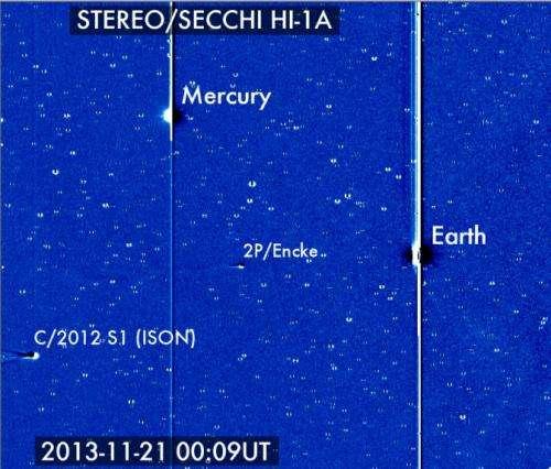NASA's solar observing fleet to watch Comet ISON's journey around the sun