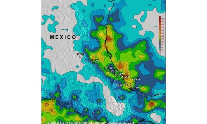 NASA tallies Tropical Storm Fernand's massive rainfall from space