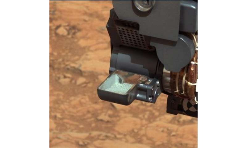 NASA to reveal contents of drilled Martian rock