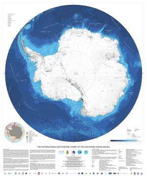 New chart shows the entire topography of the Antarctic seafloor in detail for the first time