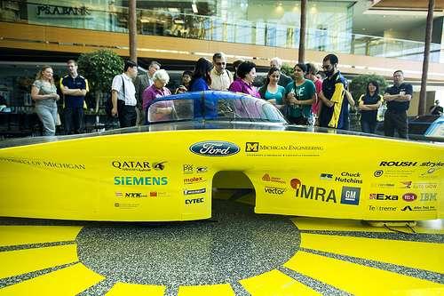 New solar car has sleek, asymmetrical design