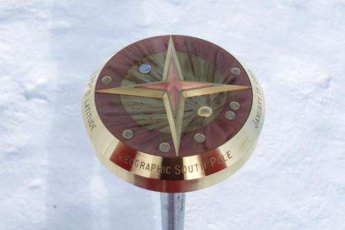 New South Pole marker honors planets, Pluto, and Armstrong