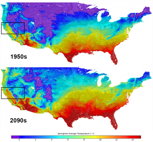 New US climate map shows temperature changes in HD