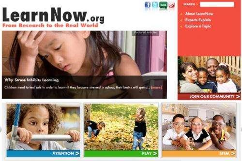 New website provides cutting-edge information on education, human development