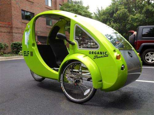 Not a car or bicycle, but a blend _ an ELF vehicle