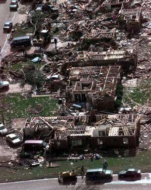 Oklahoma twister tracked path of 1999 tornado
