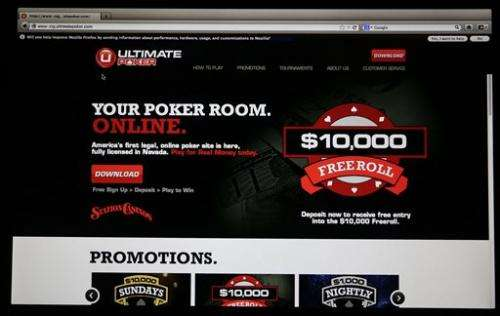 Online poker: Legal website launches in Nevada