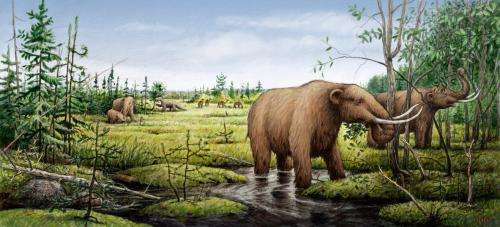 Prehistoric climate change due to cosmic crash in Canada