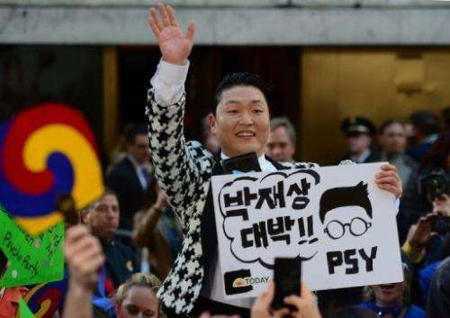 "Psy performs on the television morning talk show ""Today Show"" at Rockefeller Plaza in New York, on May 3, 2013"