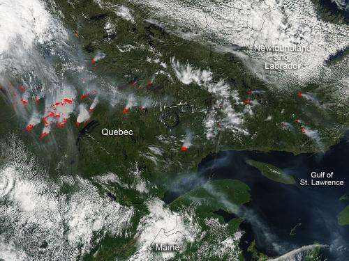 Quebec fires continue raging