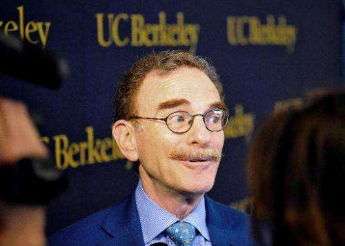 Randy Schekman, at a press conference at the University of California, Berkeley, is the co-winner of the 2013 Nobel Prize for Me