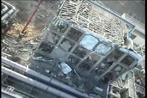 Reactor four at Japan's Fukushima nuclear power plant following the March 2011 earthquake and tsunami