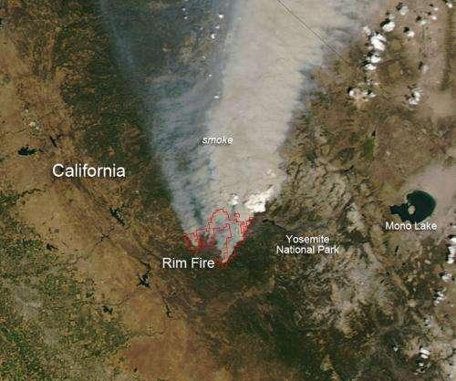 Rim Fire in California