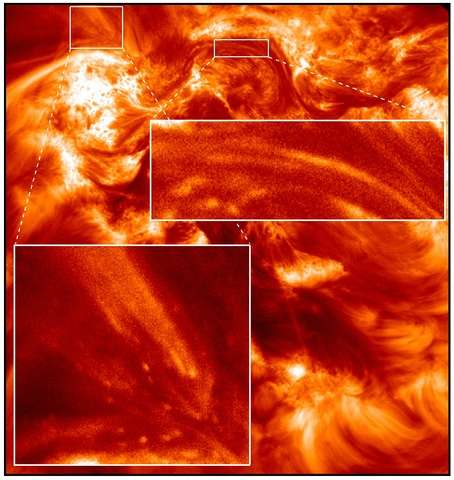 Rocket-launched camera reveals highways and sparkles in the solar atmosphere