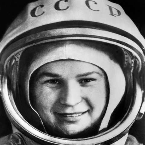 Russian cosmonaut Valentina Tereshkova, pictured at Baikonur cosmodrome, on June 16, 1963