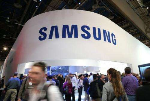 Samsung booth, pictured during the 2013 International CES in Las Vegas, on January 8, 2013