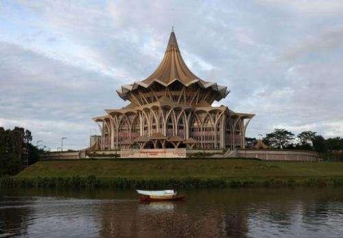 Sarawak State Legislative Assembly in Kuching, the capital city of Malaysia's Sarawak state, seen on February 7, 2013