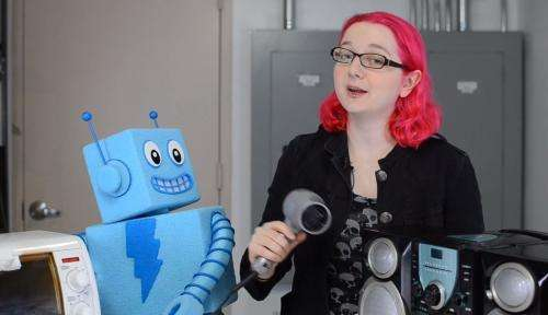 Learning electronics company Adafruit offers children electronics lessons on YouTube