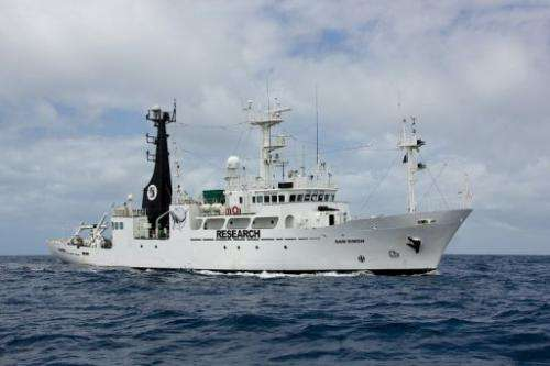 Sea Shepherd's newest vessel, the SSS San Simon, pictured on December 11, 2012