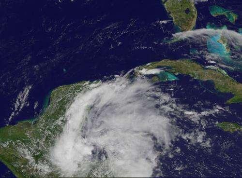 Second Atlantic season tropical depression forms