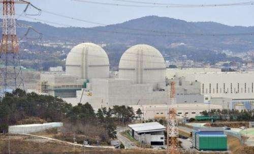 Shin-Kori 3 and 4 reactors under construction on February 5, 2013 at South Korea's Gori nuclear power plant