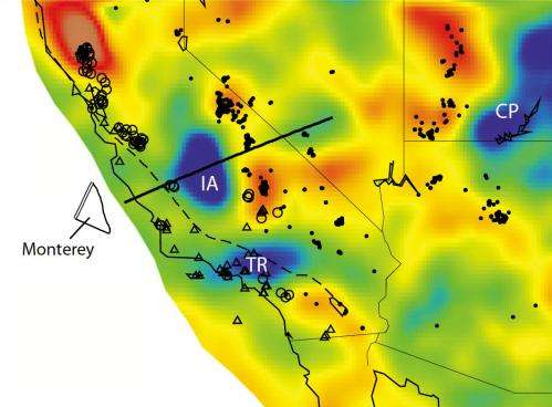 Slabs of ancient tectonic plate still lodged under California, researchers find