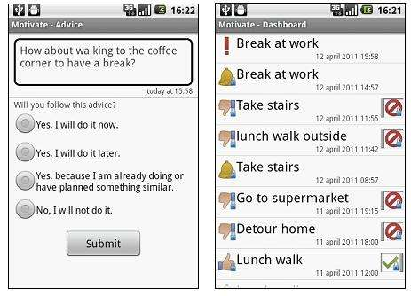 Smart app gives tips for an active lifestyle