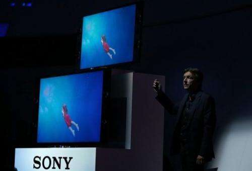 Sony Electronics President Phil Molyneux announces two new Sony Bravia televisions on January 7, 2013 in Las Vegas