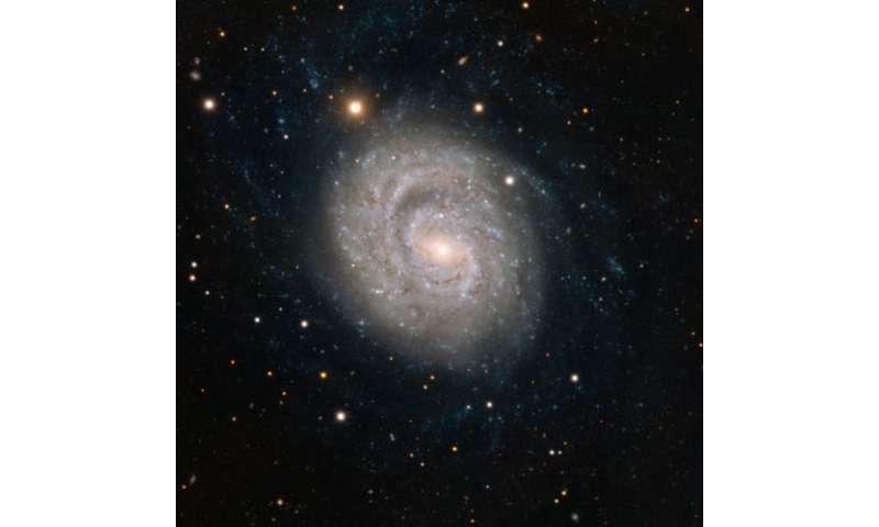 Spiral beauty graced by fading supernova