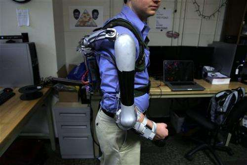 Students' robotic arm can make you stronger